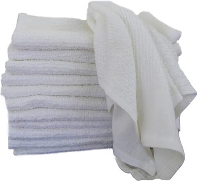 White Bar Mop Towel 10# Bag 81