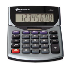 15925 Portable Minidesk Calculator, 8-Digit LCD