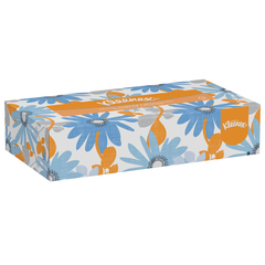 Kleenex facial tissue white