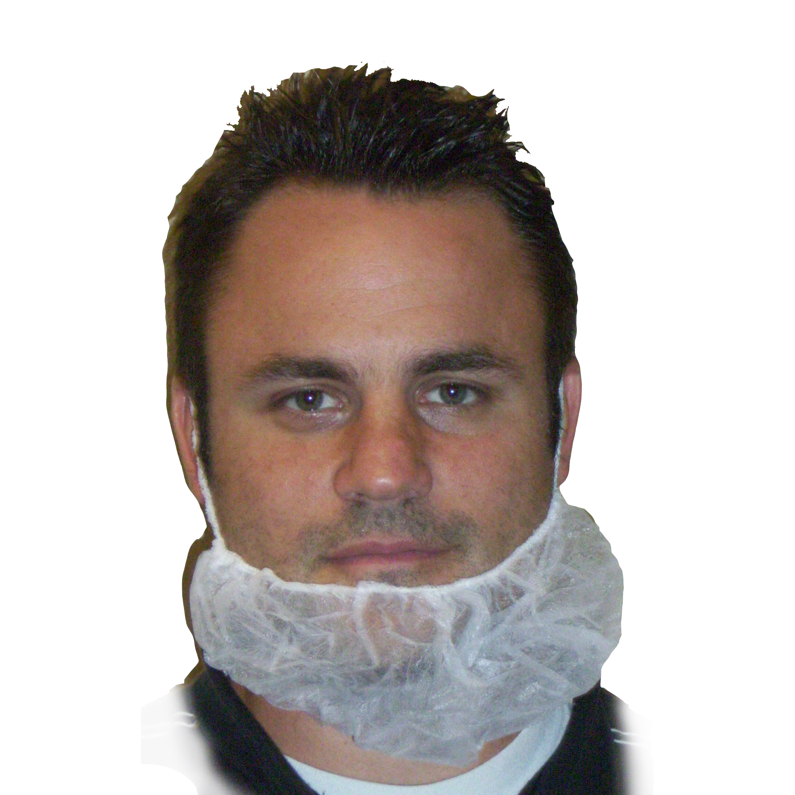 Beard net white 500/CS (BR-1)