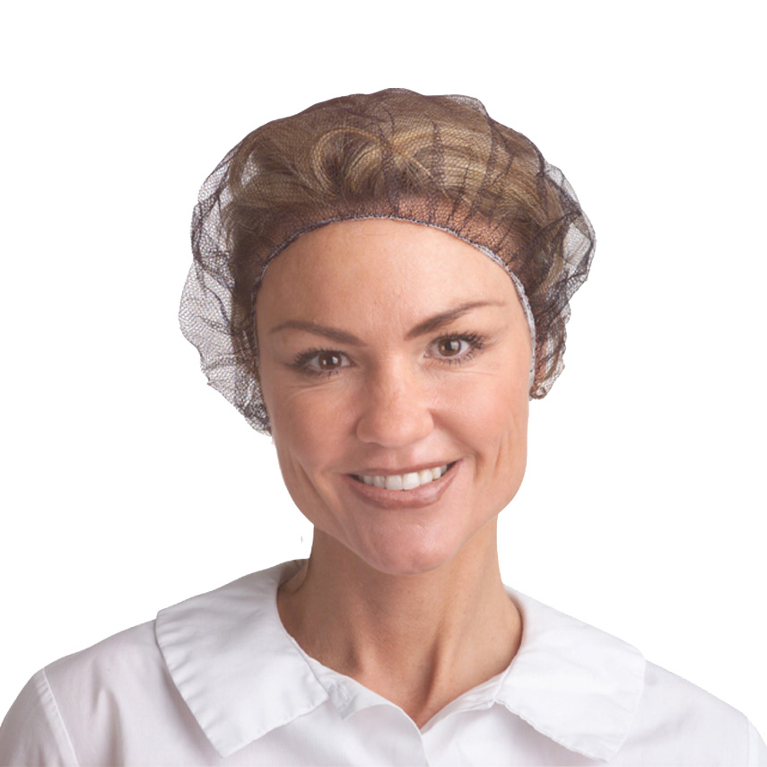 "21"" Brown nylon hair net 1000/CS"