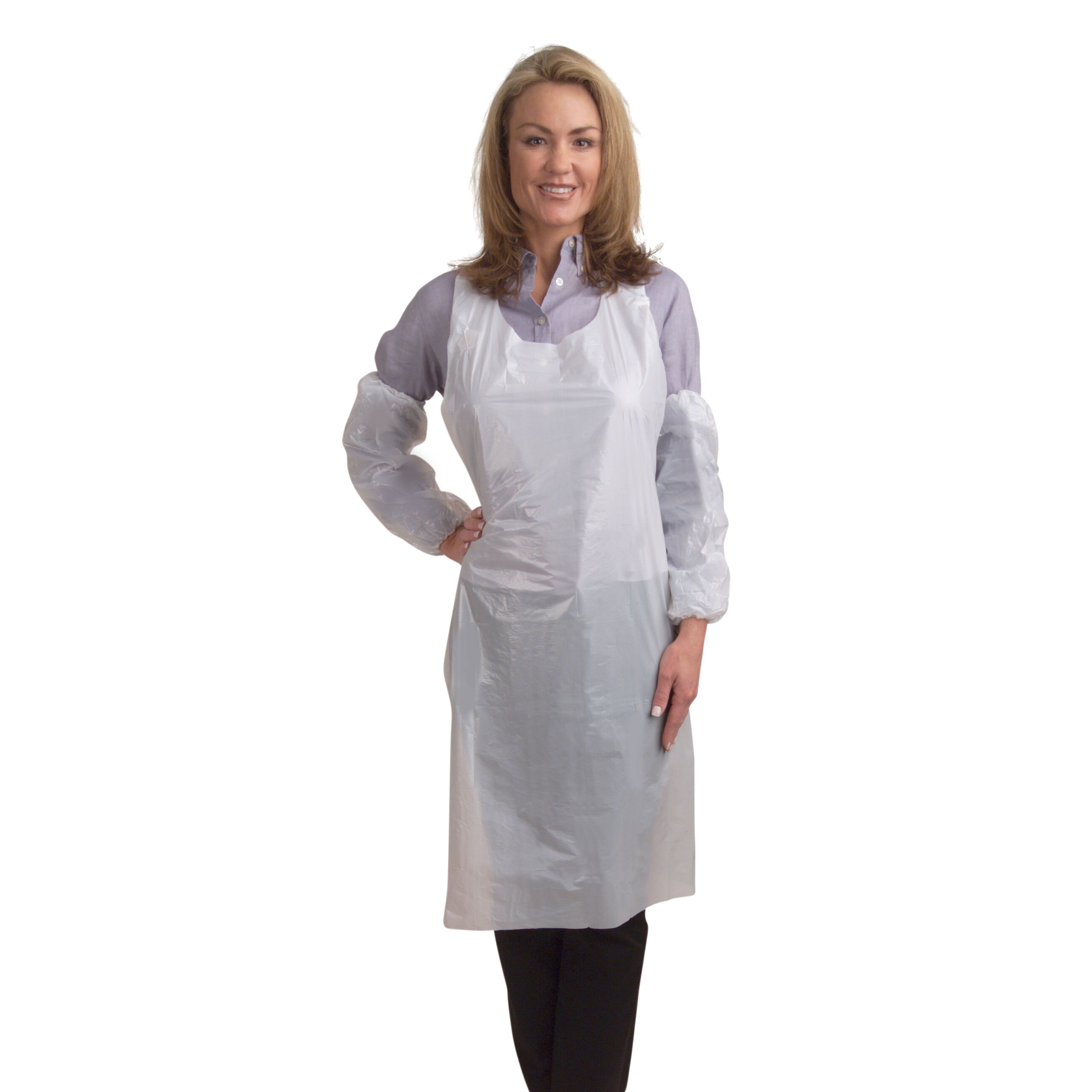 Disposable apron embossed PA2846 10/100/CS