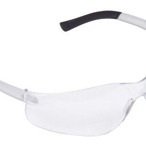 Dane Safety Glasses, 1.0 Diopter, Frosted Clear Frame,