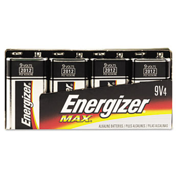 ENERGIZER 9 VOLT 4/PK BATTERY 24PKS/CASE