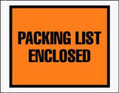 Packing List & Document Envelopes
