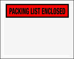 "4 1/2 x 5 1/2"" Panel Face Packing List Envelope"