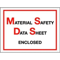 "6 1/2 x 5"" Material Safety Data Sheet Enclosed Envelope"