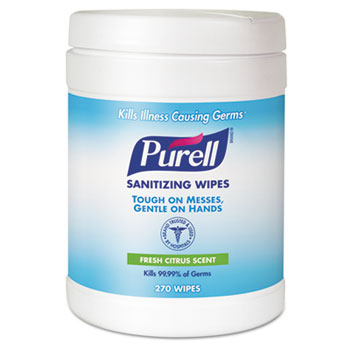 Purell Hand Sanitizing Wipes 6/270/cs