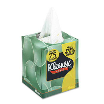 Kleenex® boutique* Anti-Viral Facial Tissue, Three-ply,