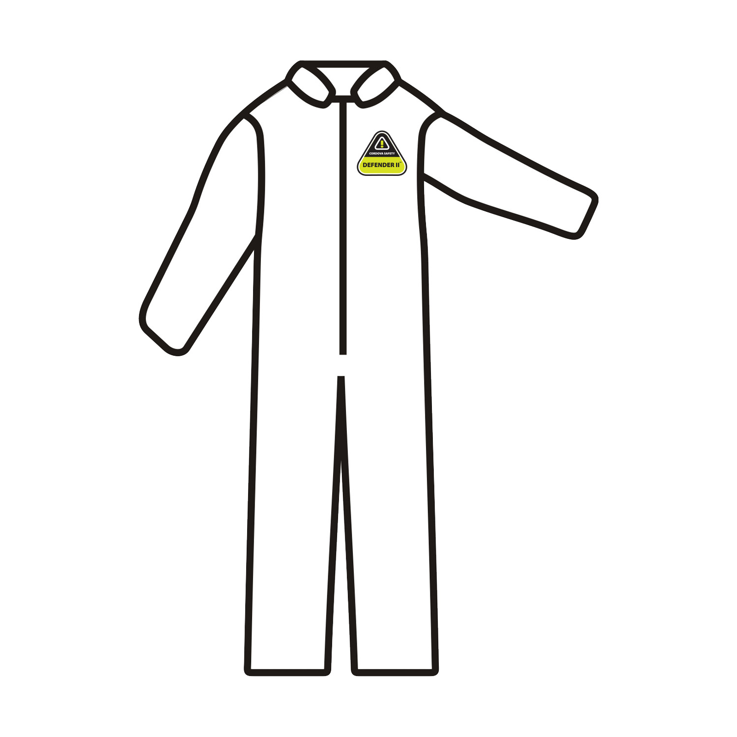 MP100 Large Defender II™ StandardMicroporous Coverall,