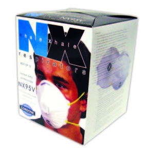 Class N95 Valved Particulate Respirator, NIOSH Approved,