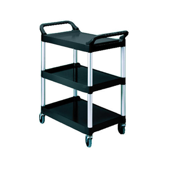 UTILITY CART 3 SHELF BLACK