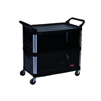 X-TRA EQUIPMENT CART 3 SIDED| BLACK