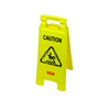 "Multilingual ""Caution"" Floor Sign, Plastic, 11 x 1 1/2 x"
