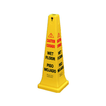 "36"" FLOOR CONE""CAUTION WET FLOOR"" ENGLSH/SPANSH"