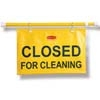 "SITE SAFETY HANGING SIGN ""CLOSED FOR CLEANING""ENG"