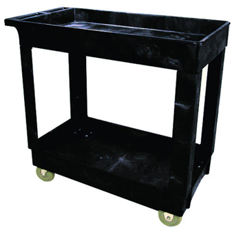 "2 SHELF CART W/4"" CA 24X36"
