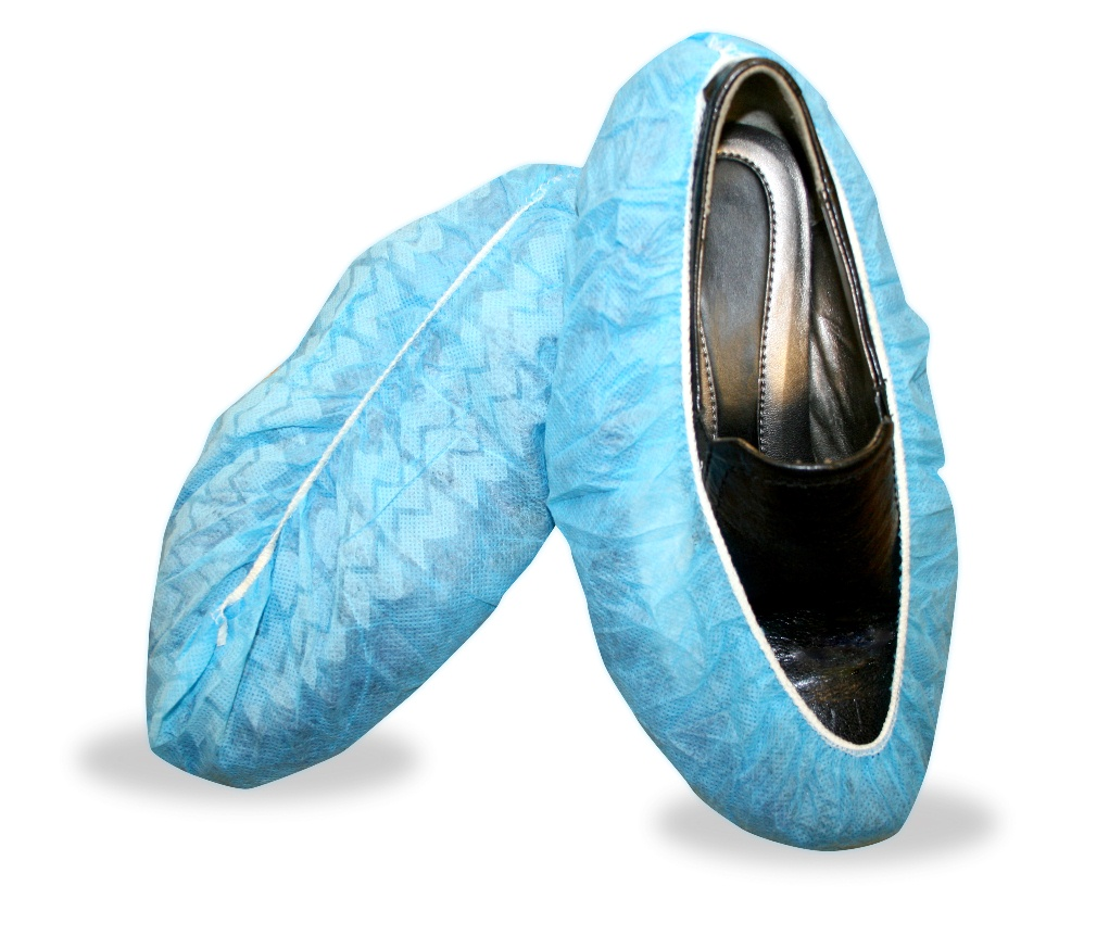 Shoe Cover Blue Non Skid Latex Coated 400/cs
