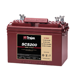 Trojan BCI Group 27, 12V Deep  Cycle Wet Battery, 115AH