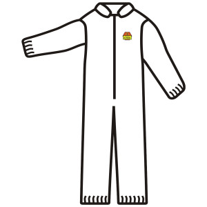 C-Max™ SMS Coverall XL, White Spunbonded/Meltblown/Spunbonde