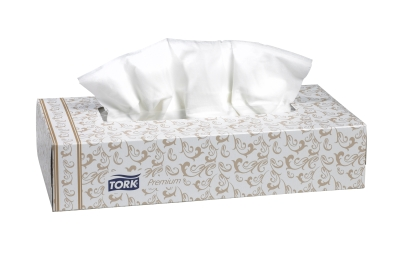 TF6920 Tork Premium facial tissue 2-ply white 100ct 30/cs