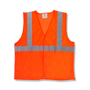 Orange Safety Vest, XL,Type R, Class 2 High Visibility