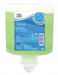 HBG1L Refresh Hair & Body Gel 1 Liter, Fresh Scent, 6/1L/cs,